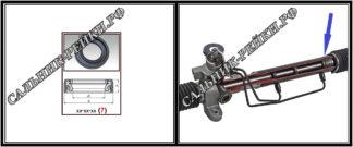 F-00396G Сальник вала рулевой рейки (ZF) наружн.(TRW) 23*34,55*6,5 (7) аналог 702.HD396G; HA1172;Применяется в рулевых рейках и насосах автомобилей VOLKSWAGEN,SEAT