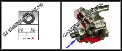 F-00432 Сальник насоса 15*28*6,3 (1A) аналог 761.HD432; HA0470;Применяется в рулевых рейках и насосах автомобилей VOLVO,FORD