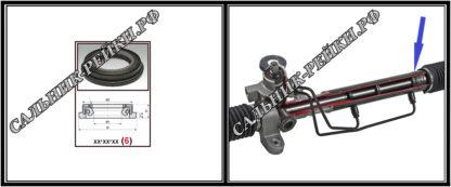 F-00523 Сальник вала рулевой рейки 14*30,5/38,4*5/11 (6) аналог 152.HD523; HA0622;Применяется в рулевых рейках и насосах автомобилей CHRYSLER,DODGE