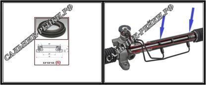 F-00911 Сальник вала рулевой рейки 24,97*37,8/41,3*3,3/7,5 (6V2) аналог 262.HD911; HA0616;Применяется в рулевых рейках и насосах автомобилей DODGE CALIBER,JEEP COMPASS,FORD MAVERICK,FORD TOURNEO CONNECT,NISSAN PRIMERA (P11)
