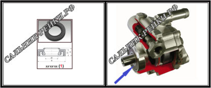 F-01071 Сальник насоса 19,05*33,4*8 (1PMA) аналог 092.HD1071; HA0494;