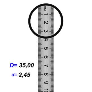 O-02854B Резиновое кольцо (Оринг) 2,45*35,00