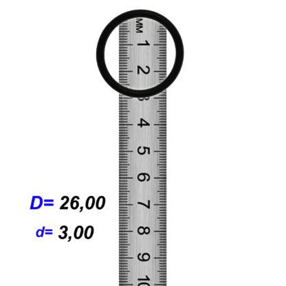 O-02921 Резиновое кольцо (Оринг) 3,05*26,00