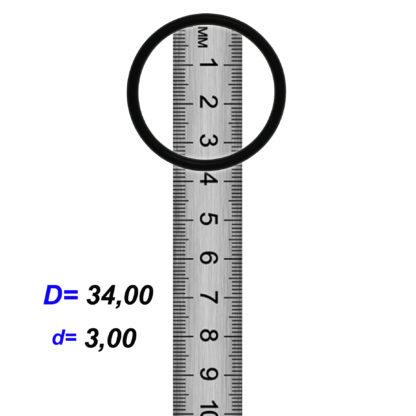 O-02924 Резиновое кольцо (Оринг) 3,05*34,00