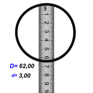 O-02940A Резиновое кольцо (Оринг) 3,05*62,00