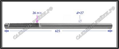 674.PS38 Вал электромеханической рулевой рейки TOYOTA RAV 4 III